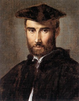 """Portrait of a Man"" by Parmigianino.  A painting of Arthur; he looks very studious."
